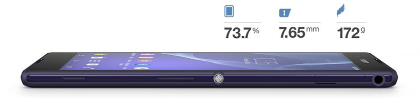 xperia T2 Ultra sizes