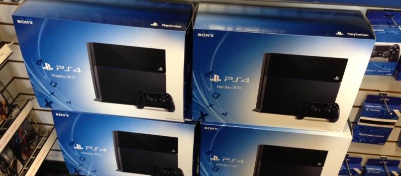 куча коробок с заветными Playstation 4