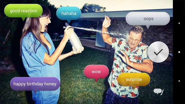 Voice balloon photo app Xperia