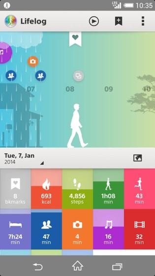 скачать приложение LifeLog для SmartBand SWR10
