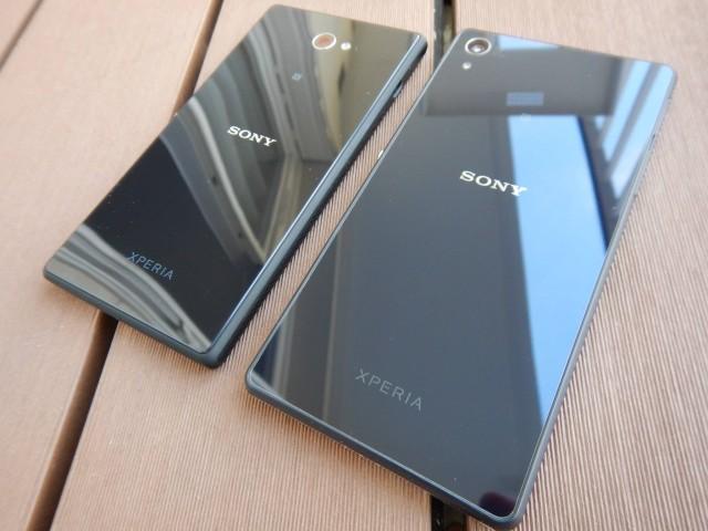 живые снимки фото Xperia M2 и сравнение с Xperia Z2