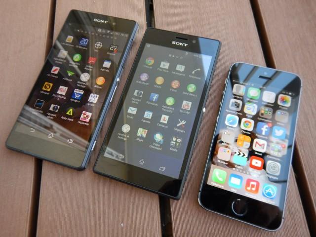 живые снимки фото Xperia M2 и сравнение с Xperia Z2 и iPhone 5s