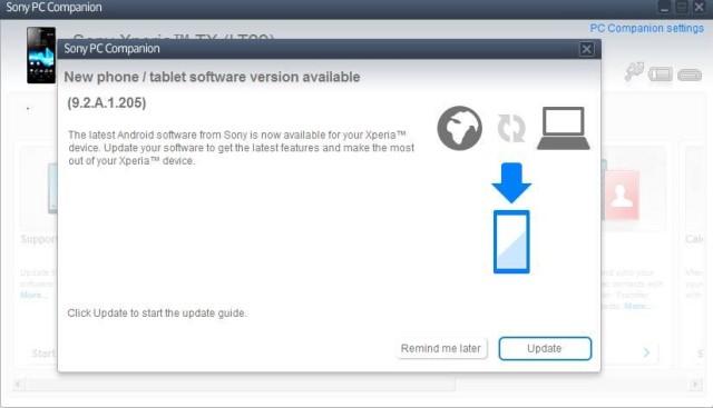 Обновление прошивки 9.2.A.1.205 для Xperia TX