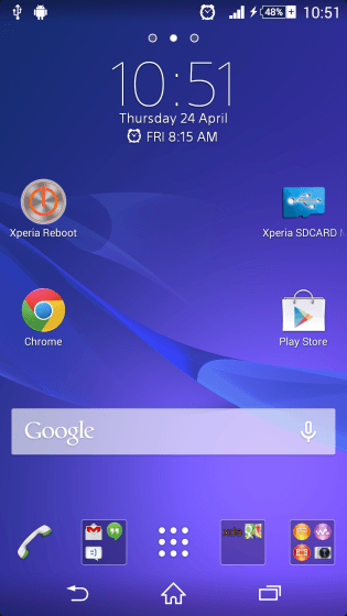 Скриншоты прошивки 10.5.A.0.227 Android 4.4.2 KitKat для Xperia Z