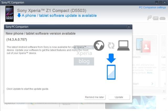 обновление 14.3.0.757 скоро будет доступно для Xperia Z1, Z Ultra и Z1 Compact
