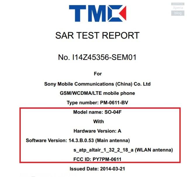 Слухи Xperia Z2 Compact проходит сертификацию FCC