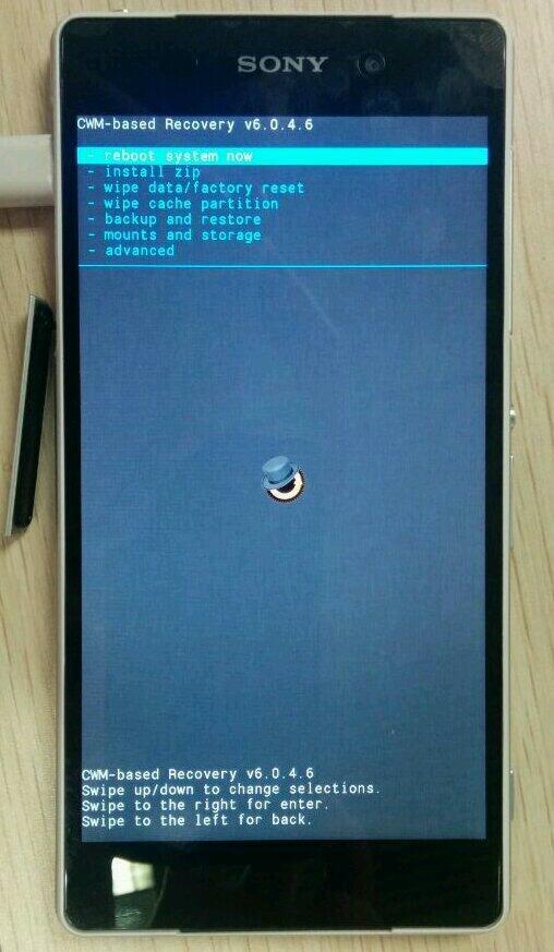 ClockWorkMod Recovery СWM на Xperia Z2