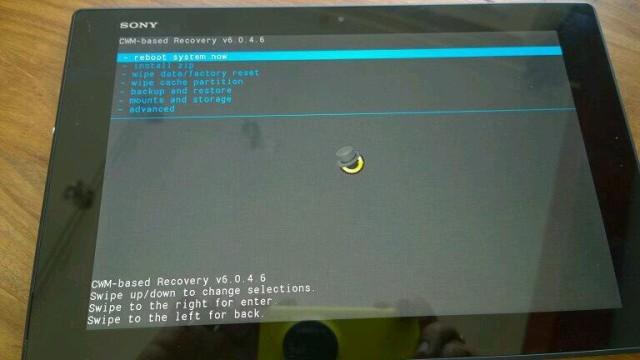 Root, рут, CWM на Xperia Z2 Tablet