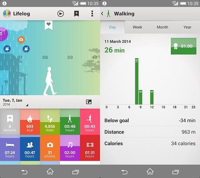 Приложения LifeLog и SmartBand SWR10 получили обновление
