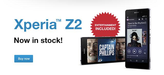 Начало официальных продаж Xperia Z2 в Европе и цены