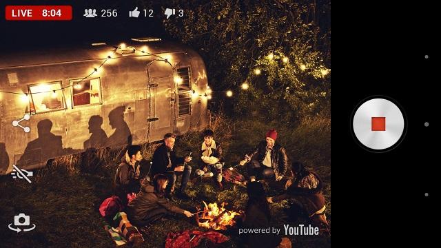 Приложение камеры Live on YouTube – by Xperia доступно в Google Play для Xperia Z2