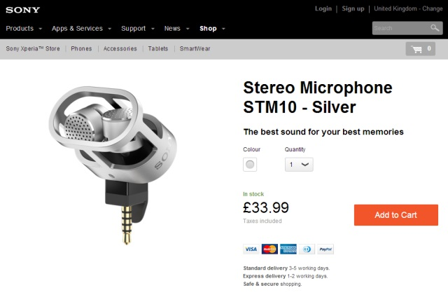 стерео микрофон Sony STM10 начало продаж в Европе