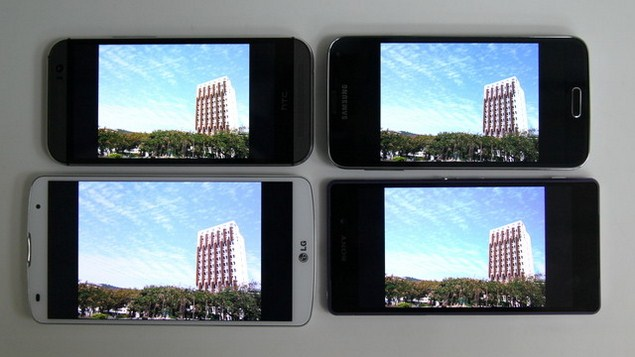 Sony-Xperia-Z2-LG-G-Pro-2-HTC-One-M8-Samsung-Galaxy-S5-comparison-display