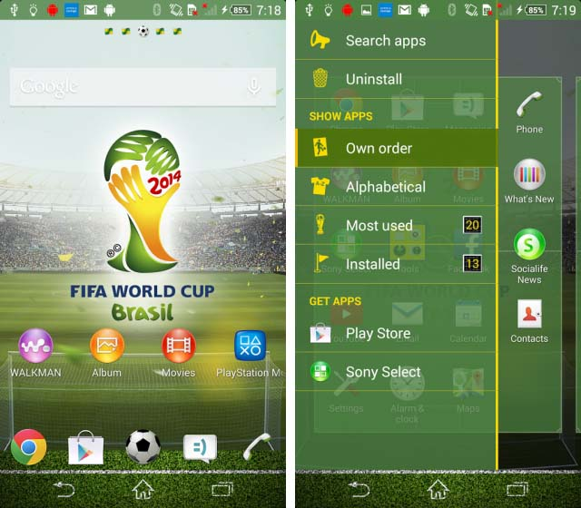 Xperia FIFA World Cup Brasil Тема уже доступна для скачивания