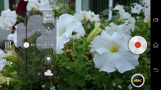 Обзор Xperia Z2, приложение камеры, 4K видео