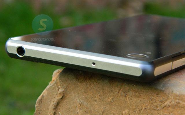 Обзор Xperia Z2, верхняя грань