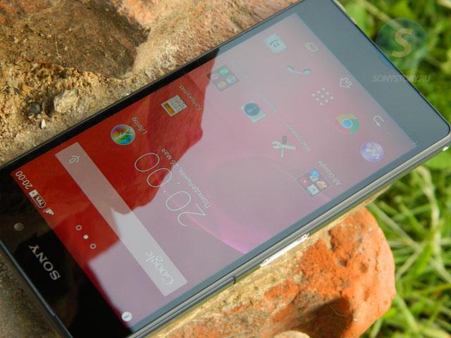 Обзор Xperia Z2, качество экрана
