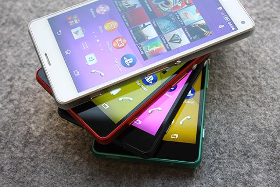 первые живые снимки Xperia Z3 Compact во всех цветах