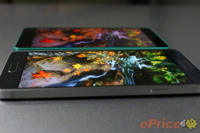 Xperia Z3 Compact и Galaxy Alpha: сравнение внешнего вида и качество экранов