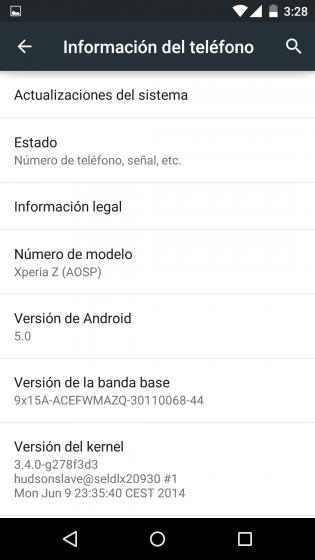 Android 5.0 Lollipop AOSP портировали на Xperia Z и Xperia L