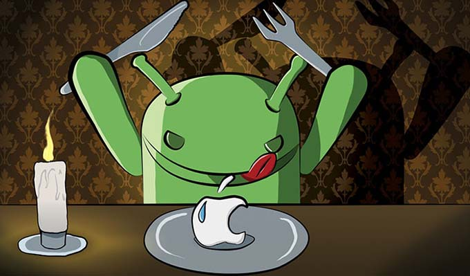 Android_eating_Apple_evil-logo
