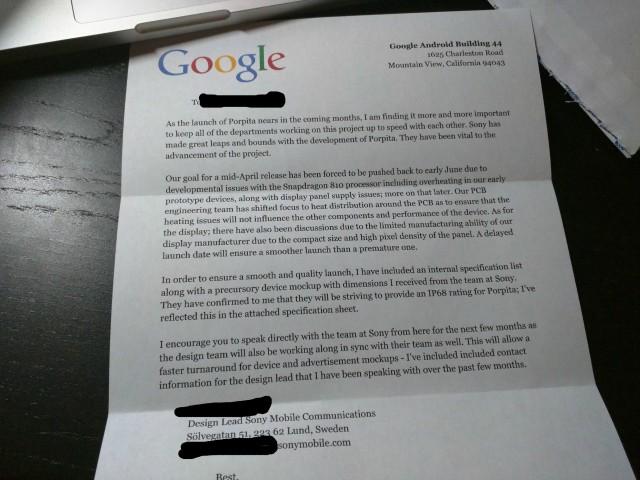 Очередной фэйк о Xperia Nexus может оказаться правдой?