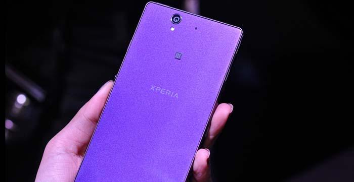 Шпионские фото Xperia Z3 фиолетового цвета