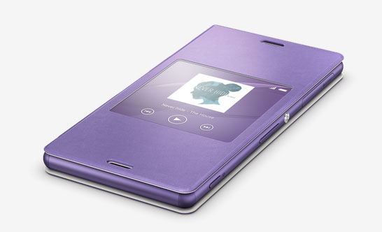 """Новая """"Soft Purple"""" Style Cover Window тема для фиолетового Xperia Z3"""