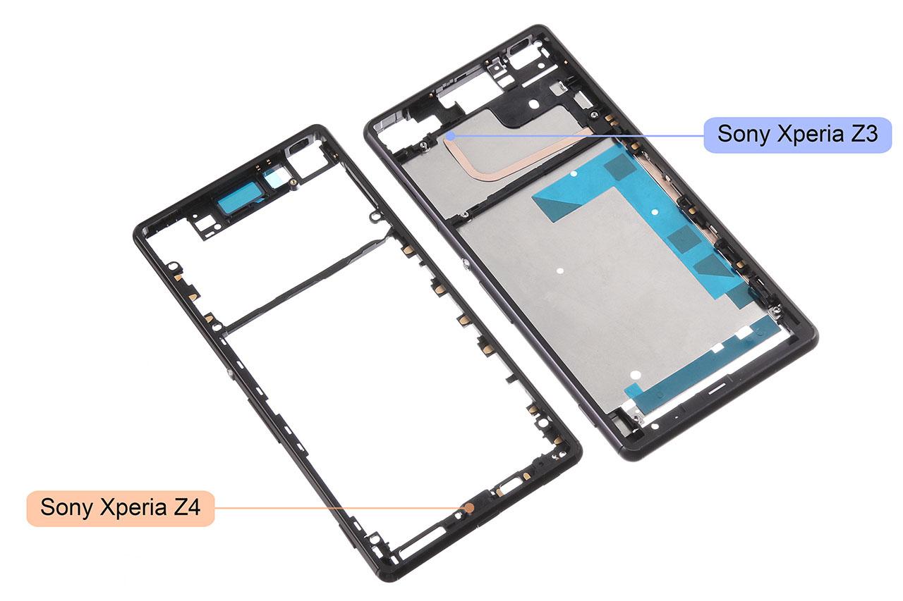 Снимки корпуса Xperia Z4 и сравнение с Xperia Z3