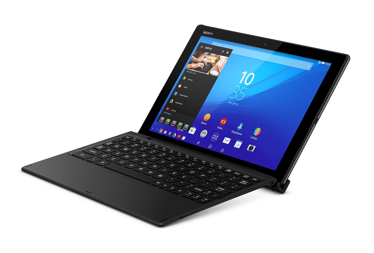 Возможности Xperia Z4 Tablet и bluetooth-клавиатуры BKB50 на видео