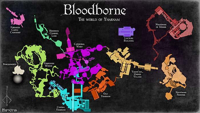 Энтузиаст создал полную карту Bloodborne