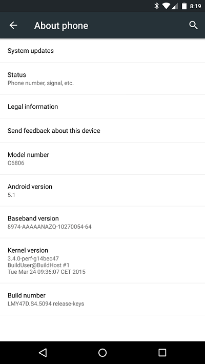 Xperia Z Ultra Google Play Edition получает Android 5.1 Lollipop