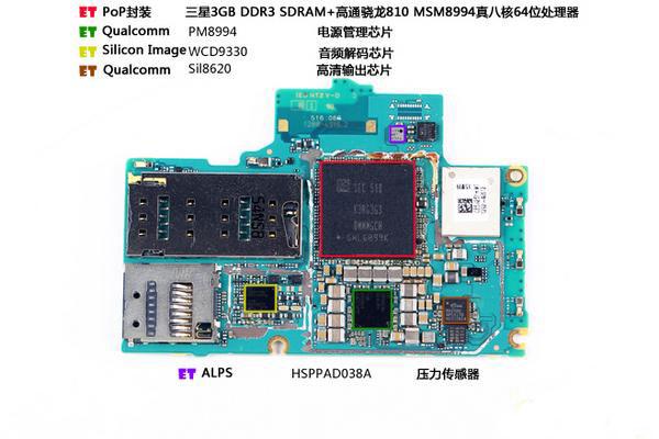Как разобрать Xperia Z3+ - чипсет