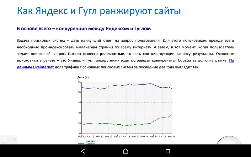 PDF на Xperia Z3 Tablet Compact