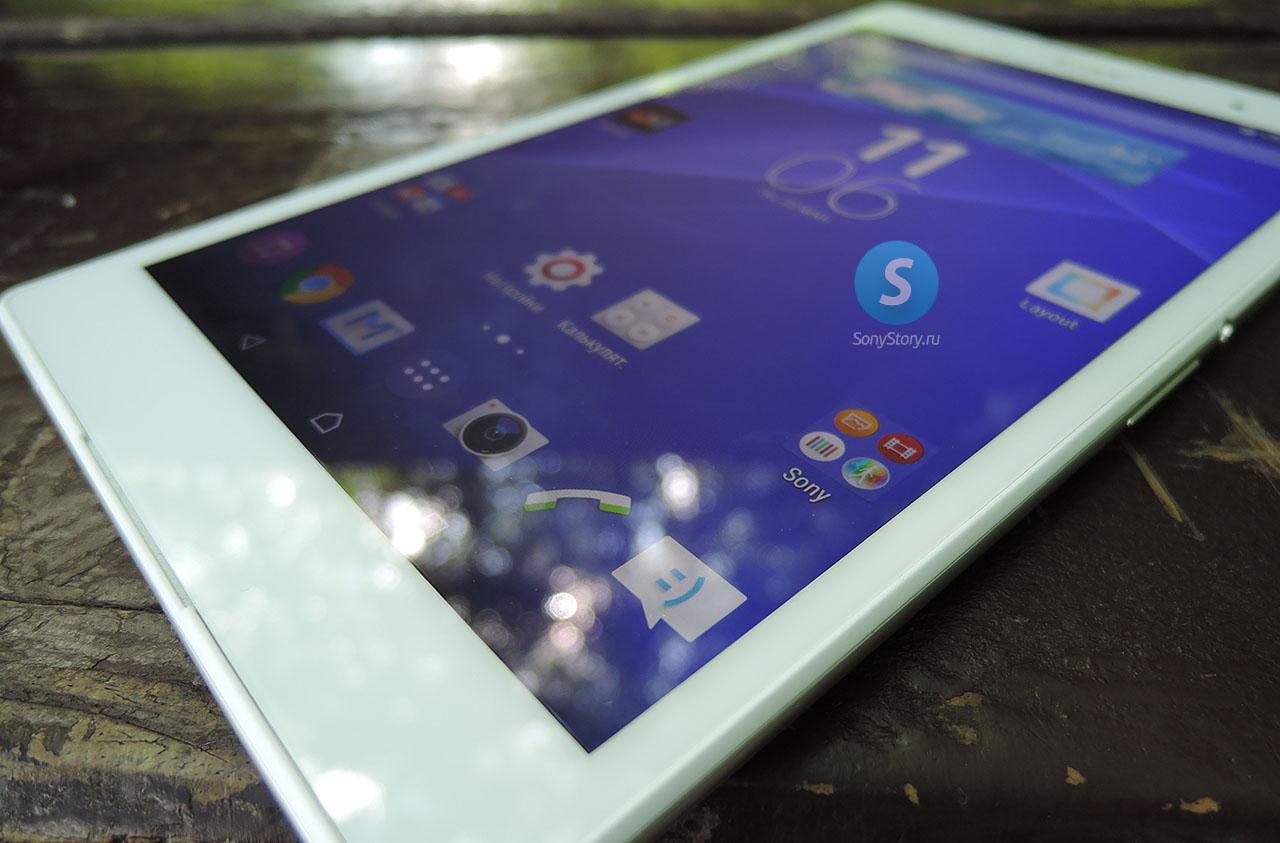 Xperia Z3 Tablet Compact - включенный дисплей