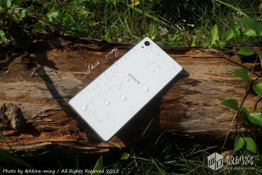 Подборка живых фото Xperia Z3+ белого цвета -  дерево и брызги воды