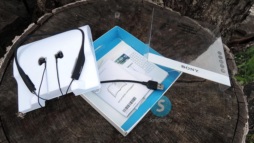 Распаковка bluetooth-гарнитуры Sony SBH70