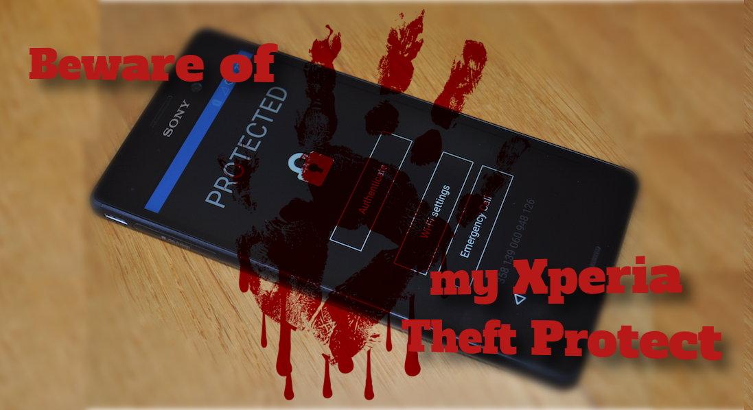 Программа защиты от My Xperia Theft Protection может превратить смартфон в кирпич