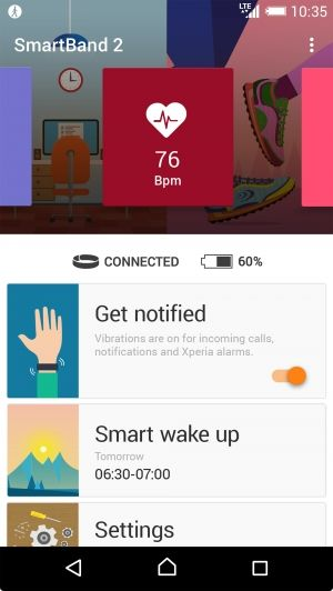 Sony Smartband 2 - приложение для Android