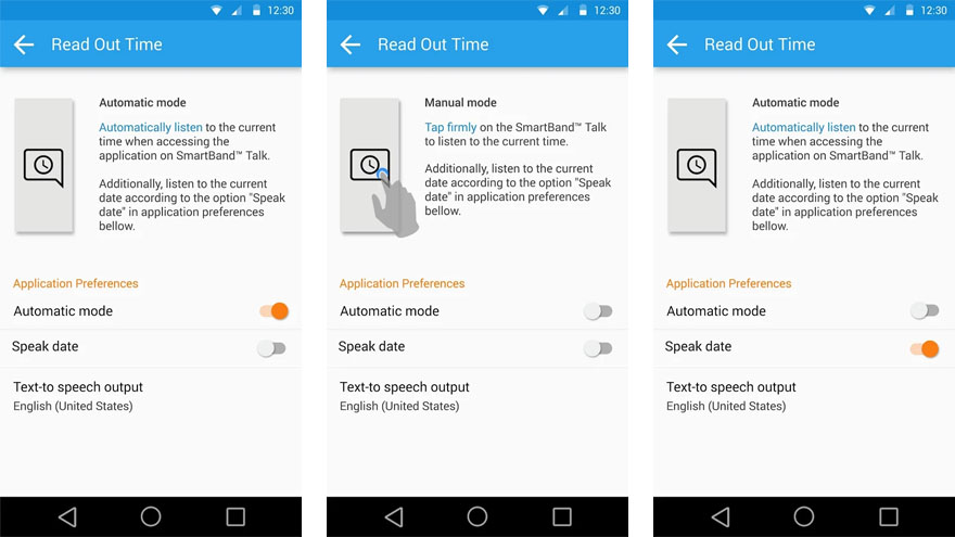 Read Out Time for SmartBand Talk 2