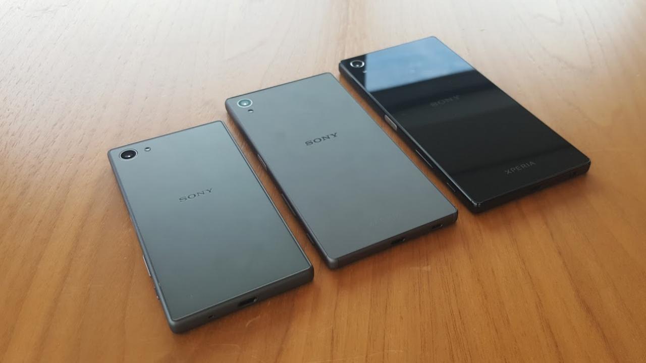 живые снимки Xperia Z5 и Xperia Z5 Premium и Xperia Z5 Compact
