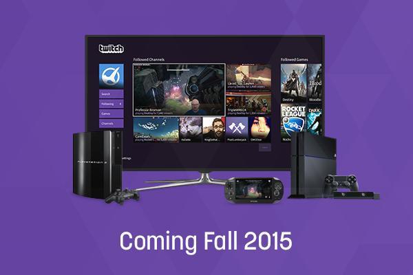 приложение Twitch выйдет на PS4, PS3, PS Vita и PlayStation TV
