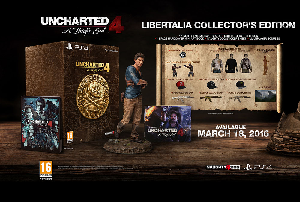 Uncharted 4: A Thief's End Libertalia Collector's Edition