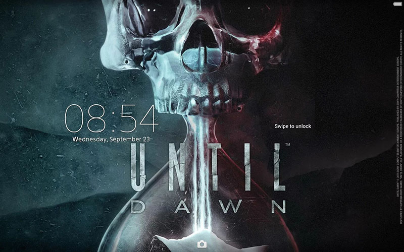Until Dawn xperia тема экран блокировки на планшете