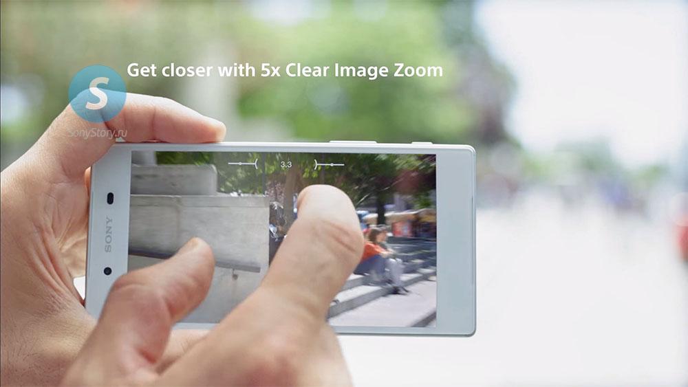 Новая интерфейс камеры Xperia Z5 - Clear Zoom