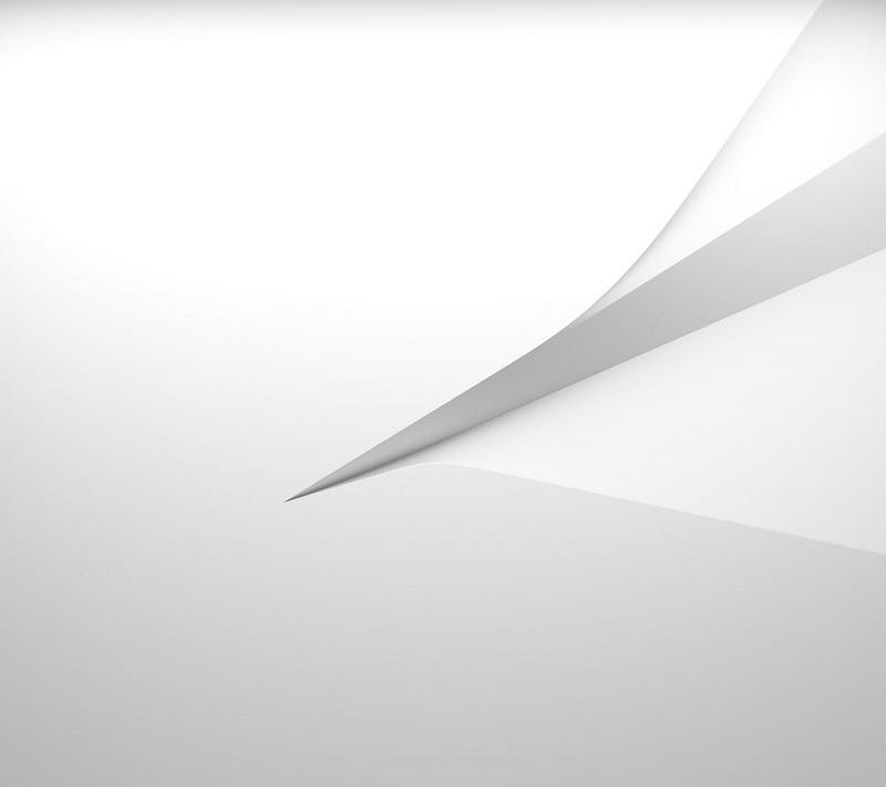 официальные обои Xperia Z5 Compact белый