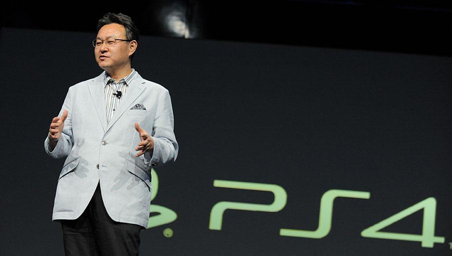 Shuhei Yoshida на одной из презентаций Sony PlayStation