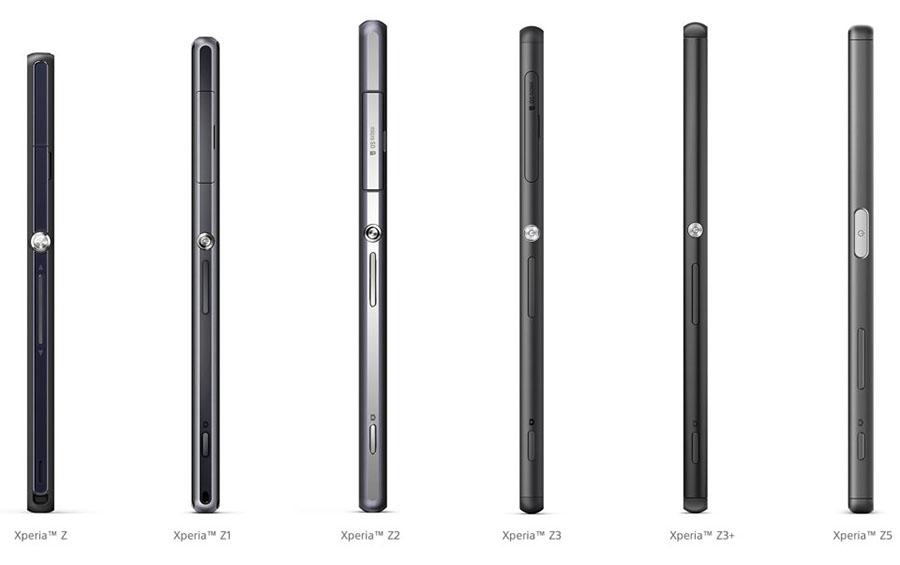 дизайн торцов Xperia Z5 , Xperia Z3+, Xperia Z3, Xperia Z2, Xperia Z1, Xperia Z