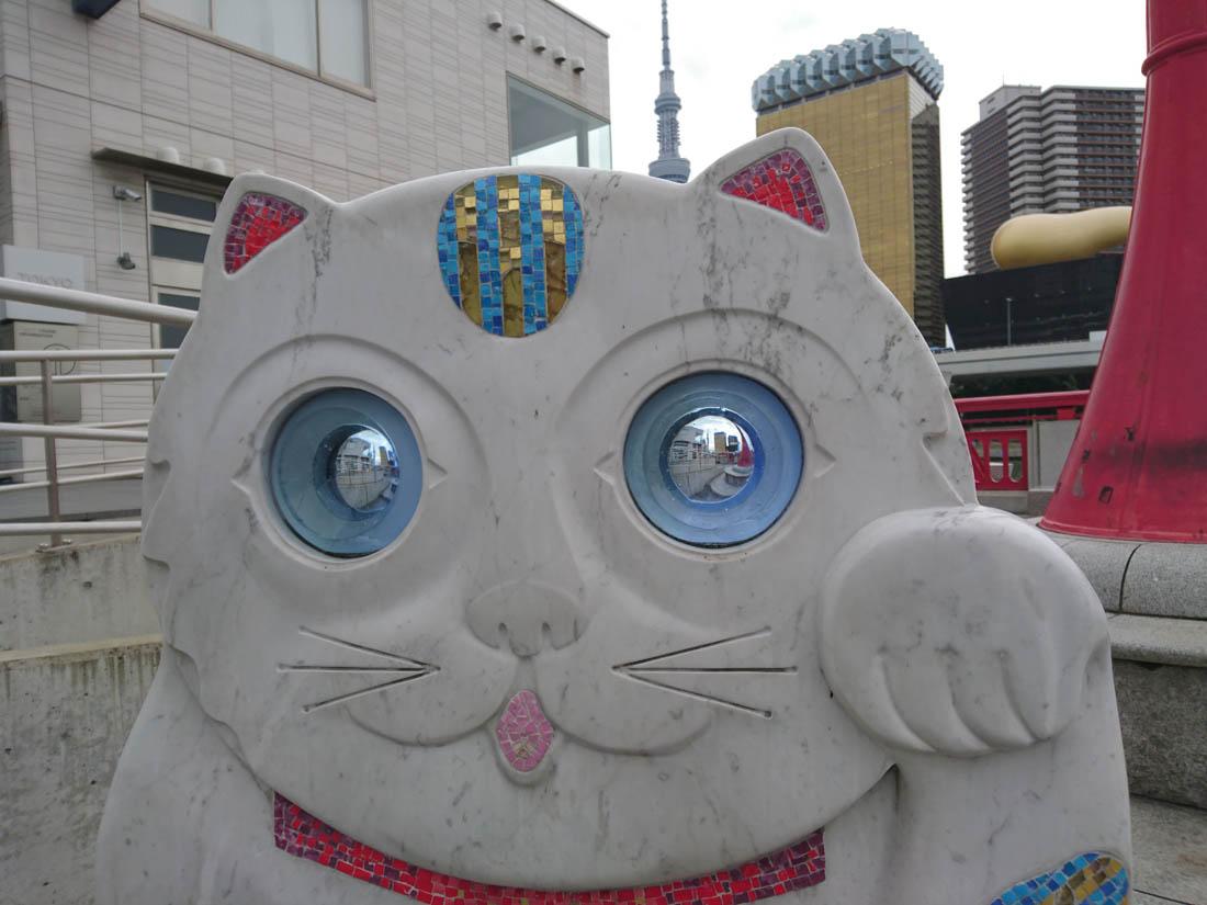 примеры съемки камеры Xperia Z5 - каменный кот