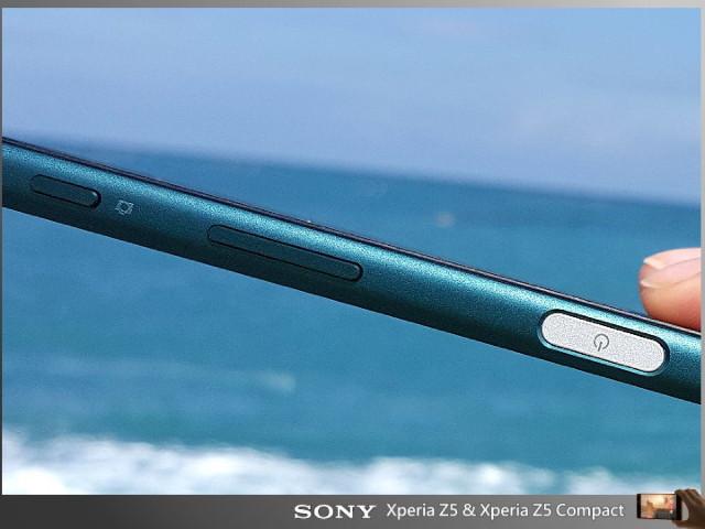 фото Xperia Z5 кнопка питания и сканер отпечатков пальцев